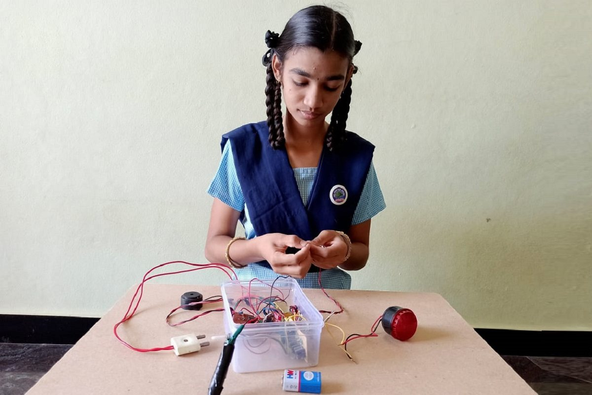 A class 9 student devises a smart band to alert people when they touch their faces