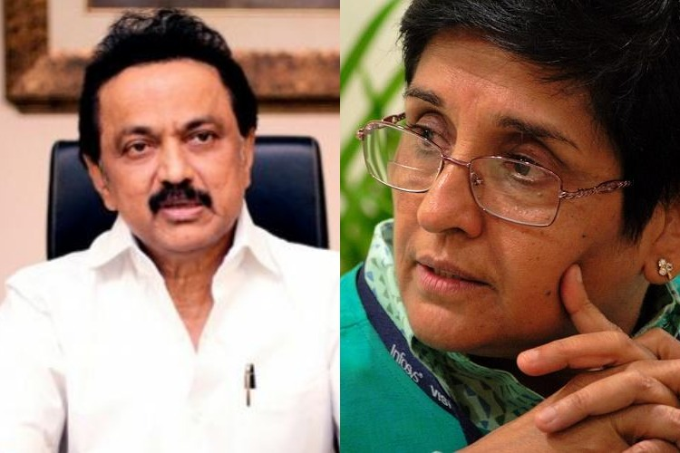 Stalin accuses Kiran Bedi of attempting to give away a part of Puducherry to Andhra