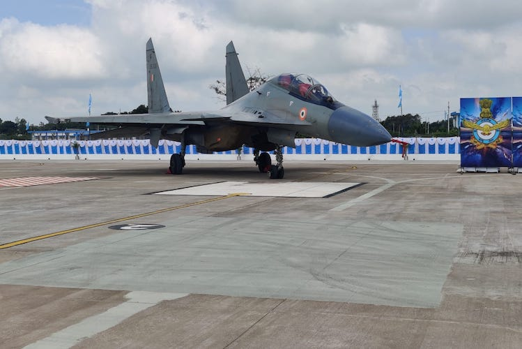 Sukhoi-30MKI jets armed with BrahMos missile inducted into Thanjavur Air Force base
