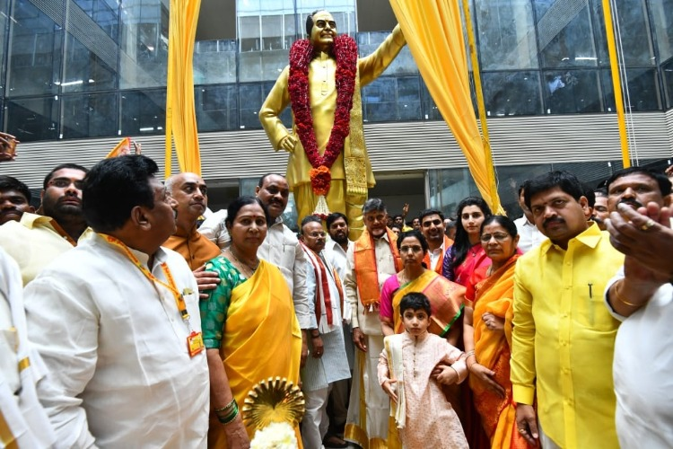 TDP inaugurates national office, YSRCP moves HC calling it 'illegal' land allotment