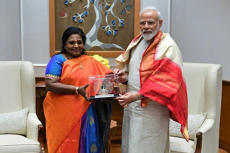 Amid RTC strike in Telangana, Governor Tamilisai meets PM Modi, Amit Shah in Delhi
