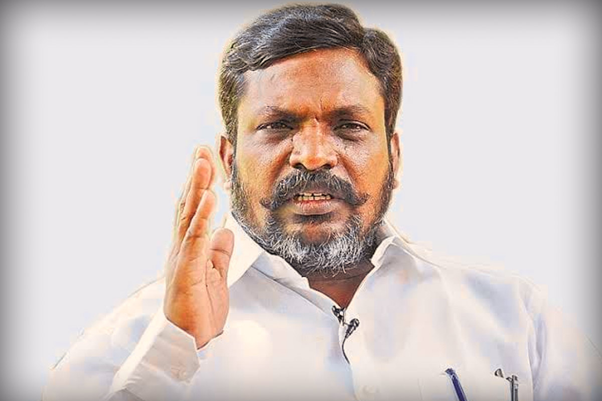Manusmriti row: VCK leader Thirumavalavan booked for comment   The News  Minute