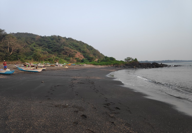 Exploring Tilmati, rare black sand beach on the Goa-Karnataka border