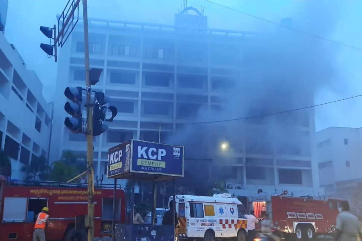 3 including hospital COO arrested for fire at Vijayawada COVID Care Centre