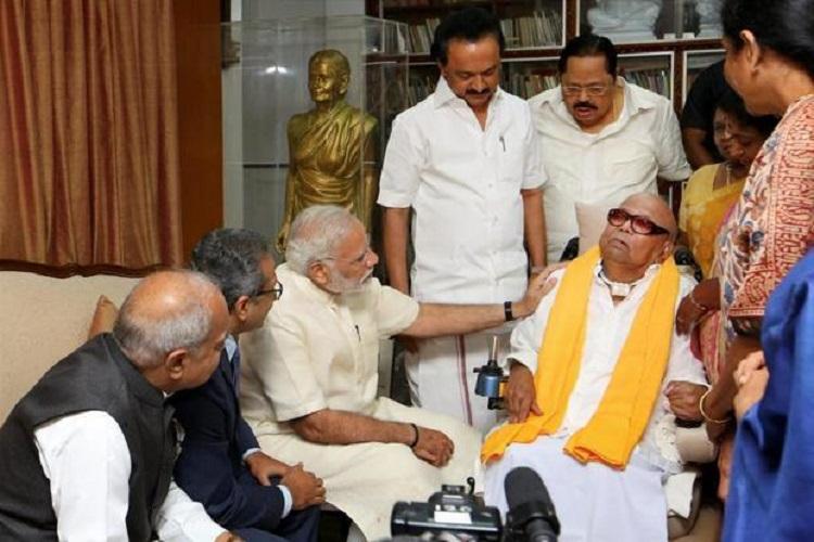 'We have lost a deep-rooted mass leader': PM Modi condoles Karunanidhi