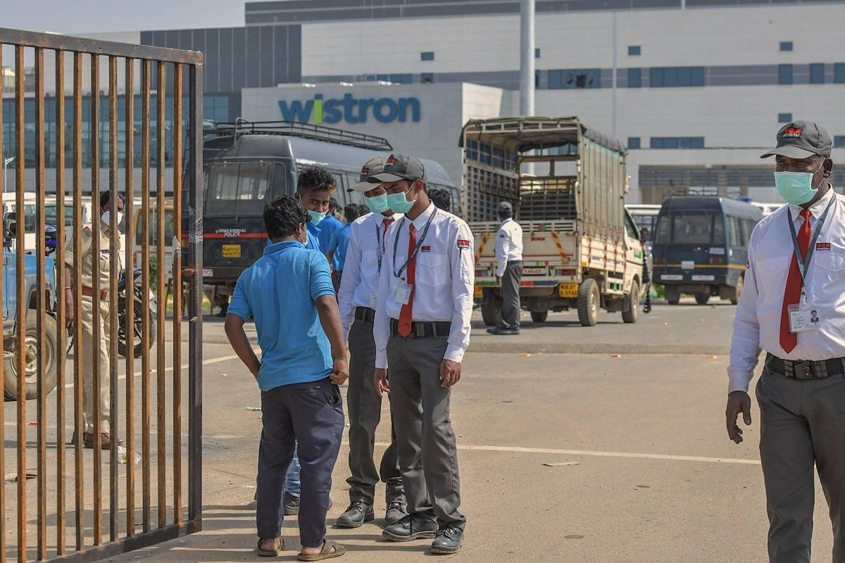 Wistron looking to resume operations in Apple iPhone plant near Bengaluru - The News Minute
