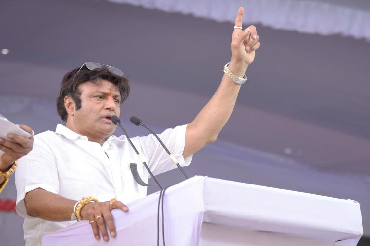 Actor Balakrishna campaigns for People's Front, conducts road shows in Hyd