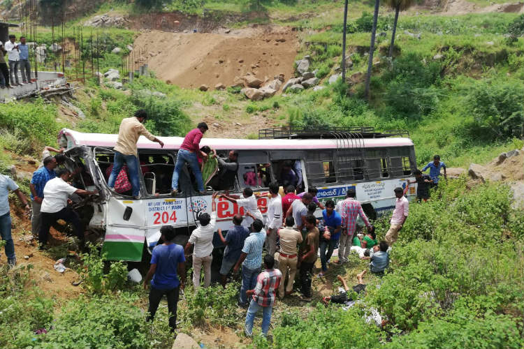 Who is responsible for the deaths of 57 people in the Telangana bus tragedy