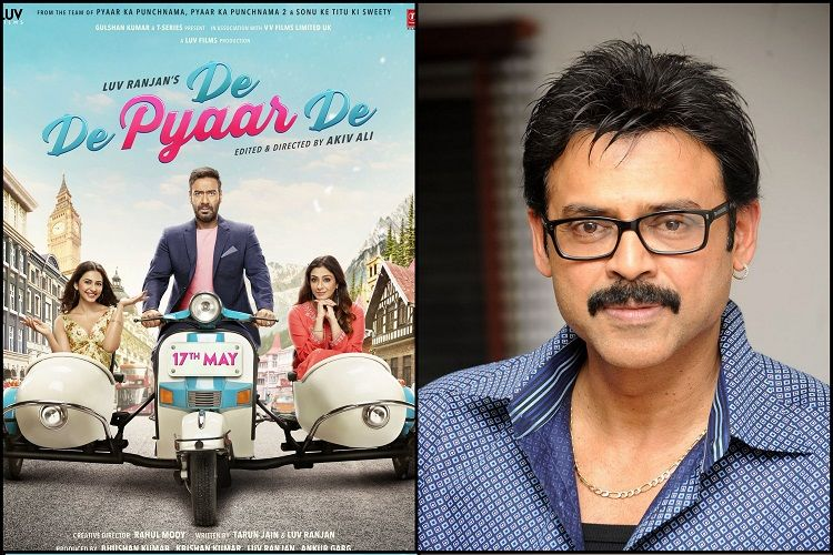 Venkatesh in Telugu remake of Bollwood film 'De Pyaar De'