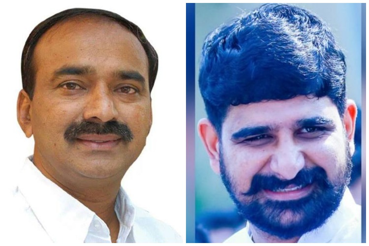Telangana polls: Min Etela Rajender and Cong's Koushik resort to abuse, name-calling