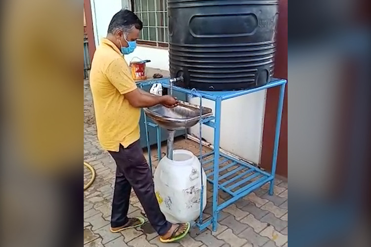 railways install foot operated hand washes at stations
