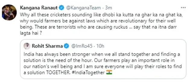 Kangana Ranaut S Tweets On Farmers Removed For Violation Of Twitter Rules The News Minute