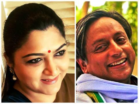Image result for Khushbu & Tharoor