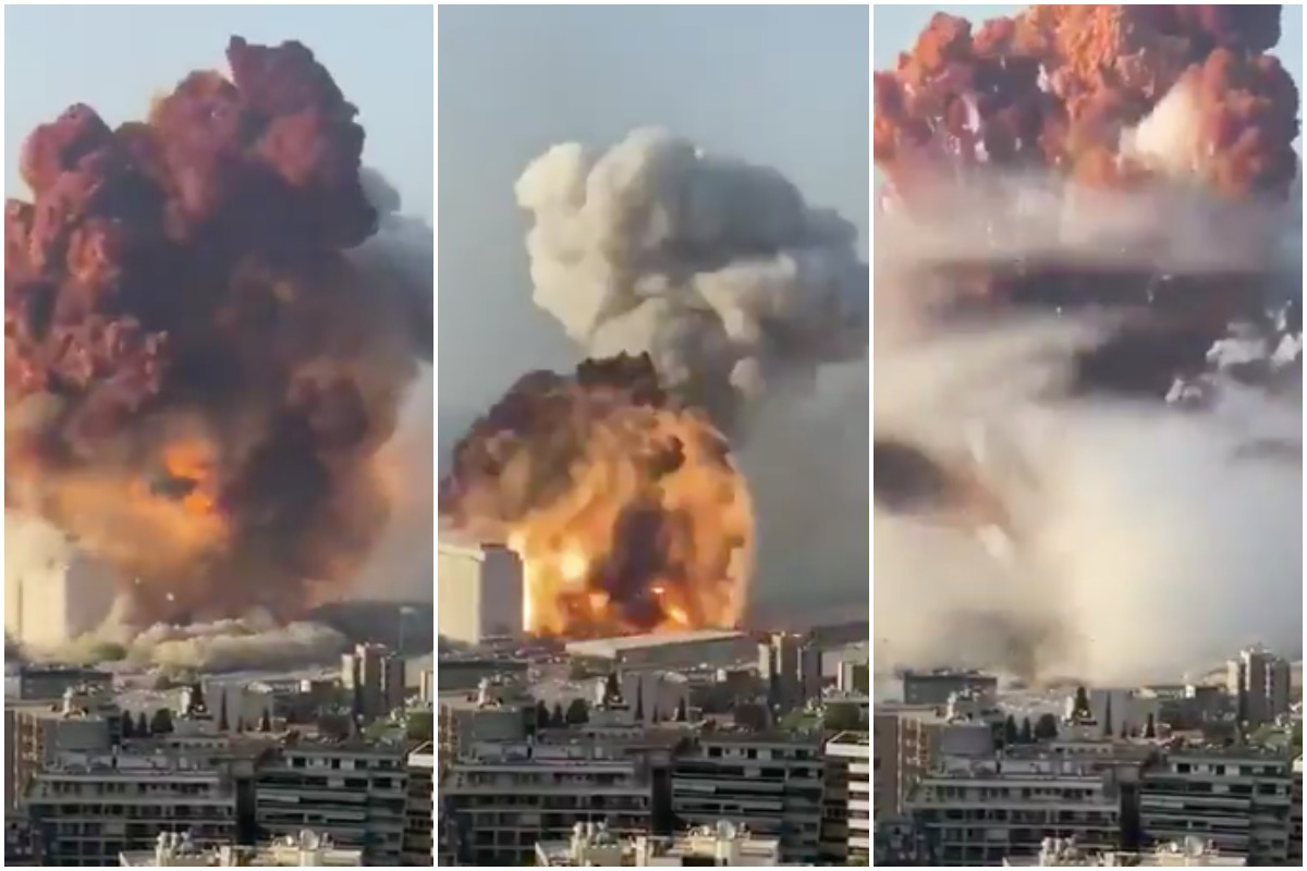 Shocking videos show powerful explosion in Lebanon capital Beirut