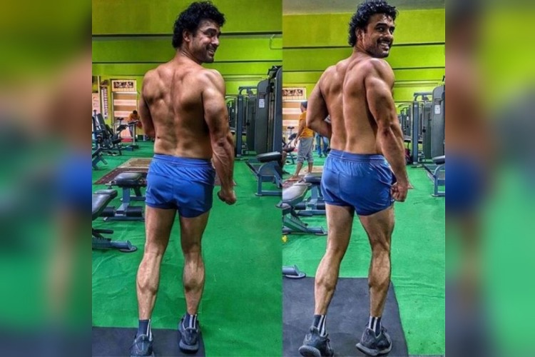 Tovino Thomas shares work-out photos for 'Minnal Murali'