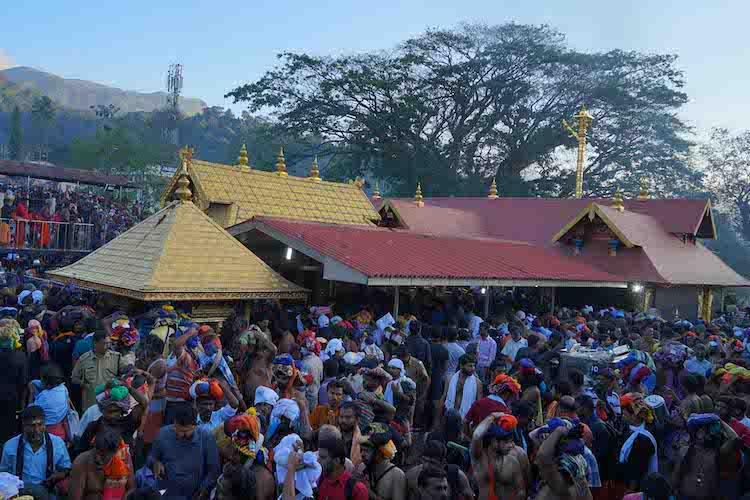 Sabarimala temple witnesses heavy rush as it opens on Thursday