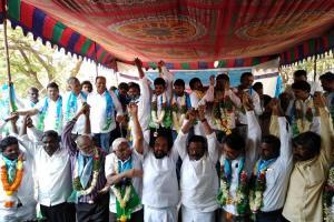 BCs protest quota cap in Telangana panchayat polls slam KCR