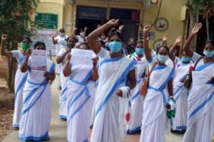 ASHA workers in Telangana demand pay hike and fixed salaries