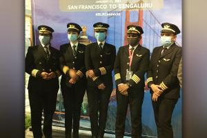 The worlds eyes on us Capt Zoya and Capt Thanmei on flying SF-Bengaluru nonstop
