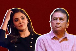 Why accuse wife for husbands game Anushka slams Gavaskar for sexist comment