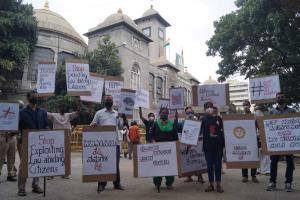 Stop tax extortion Bengaluru Navanirmana Party protests BBMPs property tax notices