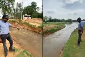 Encroachment cleared from Bengaluru stormwater drain city lakes fill up