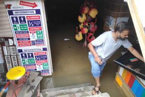 Bengaluru residents upset as stormwater drains overflow after rains lash city