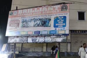 Hyderabad school fined Rs 1 lakh for erecting banner on pavement