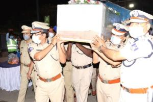 Two CRPF men killed in Maoist attack cremated with state honours in Andhra