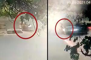 Two Chennai policemen killed as BMW rams into them crime caught on CCTV