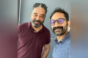 Fahadh Faasil joins the sets of Vikram shares pic with Kamal Haasan