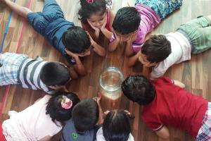 Parents can pay the fees they can afford at this Indian Montessori pre-school