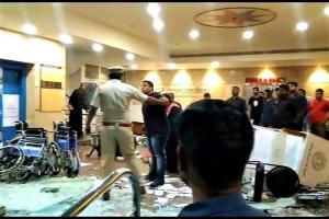 Vandalism at Hyd hospital 4 held for assaulting policemen doctors condemn incident