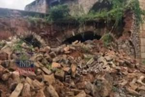 Heavy rain takes toll on Hyderabads Golconda fort wall partially collapses