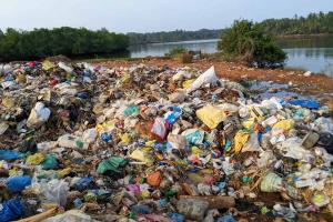 Contractor pulled up for illegally dumping waste on Udupi riverbank