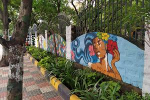 Walls of Hyds JNAFAU get makeover with murals painted by alumni students
