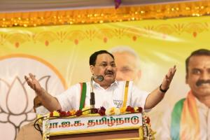 Tamil Nadu is land of spiritualism and economic development BJP President JP Nadda