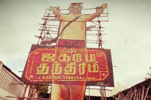Dhanushs Jagame Thandhiram gets huge cutout in TNs Theni