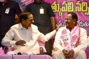 KCRs staunch critic Mothkupalli joins TRS months after leaving BJP