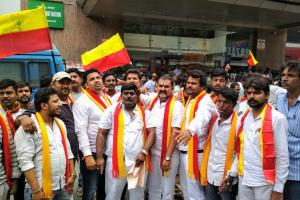 Pro-Kannada groups go from theatre to theatre ensuring Kaala isnt screened in Bluru