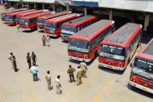 Karnataka govt mulls roping in police and army drivers as bus workers continue strike