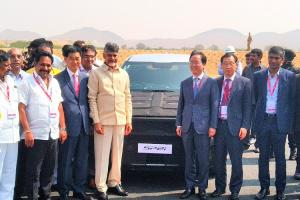 Kia Motors begins trial production at plant in Andhra rolls out its first car
