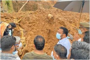 Bodies of mother and son found hugging each other beneath Kerala landslide debris