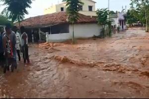 Kondapochamma Sagar canal breaches in Telangana a month after inauguration by KCR
