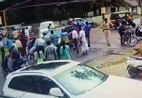 Karnataka woman hit by car dragged for 5 metres Accident caught on CCTV