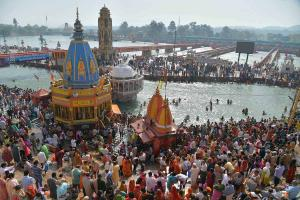 Huge crowds no distancing at Kumbh Mela 102 test positive in a day