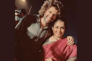 Ramya Krishnan shares pics from Liger shoot with Vijay Deverakonda