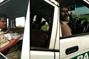Caught on camera TN cops demand bribe from lorry driver transferred