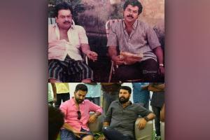 Prithviraj shares throwback picture of his father with Mammootty