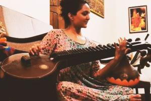 Watch Manju Warrier plays Money Heists Bella Ciao on veena